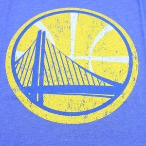 Shirts - Golden State Warriors Large Logo Crewneck T-Shirt